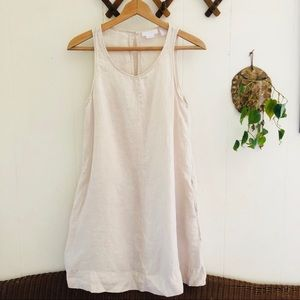 Linen Midi Dress with Pockets